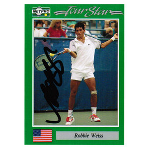 NETPRO ROBBIE WEISS SIGNED MENS CARD