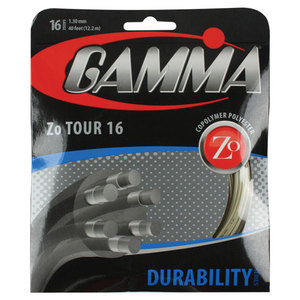 GAMMA ZO TOUR TENNIS STRINGS 16G/ 1.30 MM NA