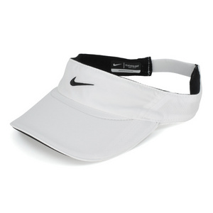 NIKE WOMENS FEATHER LIGHT VISOR WHITE