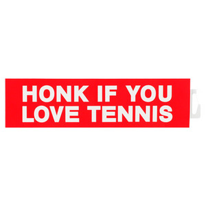 CLARKE TENNIS STICKER HONK