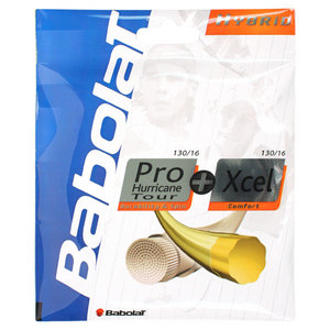BABOLAT PRO HURRICANE TOUR 16 + XCEL 16G STRINGS
