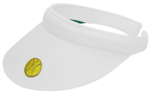 Applique Clip Visor With Tennis Ball
