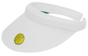 CLARKE APPLIQUE CLIP VISOR WITH TENNIS BALL