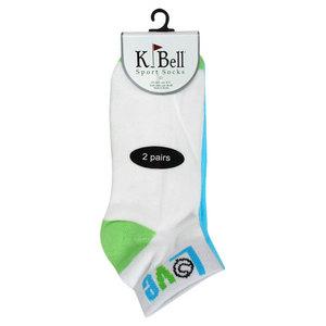 K BELL SOCKS LOVE TENNIS BLUE/GREEN SOCKS