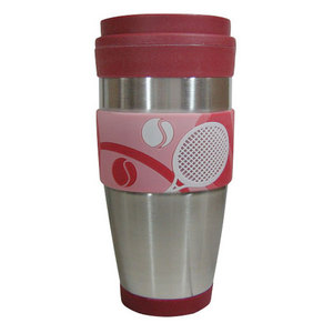 CLARKE TENNIS TRAVEL TUMBLER RED