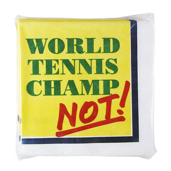 Tennis Beverage Napkin ` Champ/Not `
