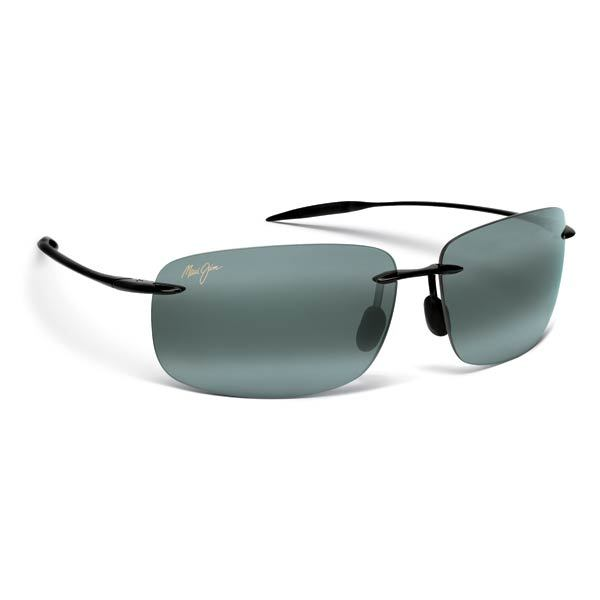 Maui Jim Breakwall Sunglasses Gloss Black Neutral Grey