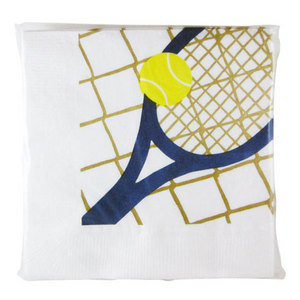 CLARKE RACQUET, BALL, NET TENNIS NAPKINS