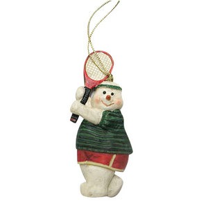 CLARKE SNOWMAN WITH GREEN SHIRT ORNAMENT