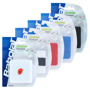 BABOLAT SINGLE WIDE WRISTBANDS 2 PACK