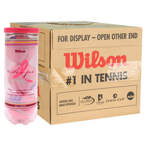 WILSON HOPE ALL COURT PINK 12 PACK TENNIS BALLS