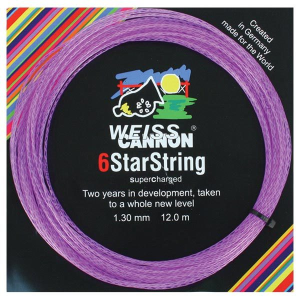 6 Starstring Supercharged 16g Tennis String