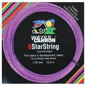 WEISS CANNON 6 STARSTRING SUPERCHARGED TENNIS STRING