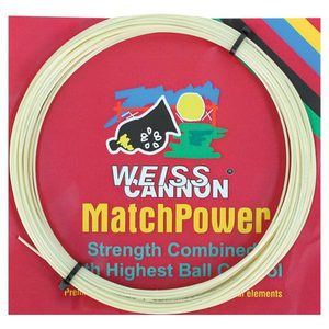 WEISS CANNON MATCH POWER 17G NATURAL TENNIS STRING