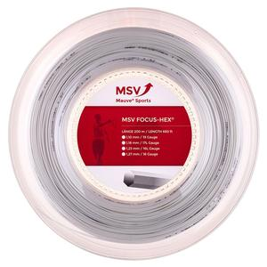 MSV Focus Hex 118 Reel Tennis String White