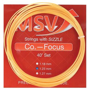 MAUVE SPORTS MSV CO FOCUS 123 GOLD TENNIS STRING