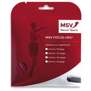 MAUVE SPORTS MSV FOCUS HEX 123 RED TENNIS STRING