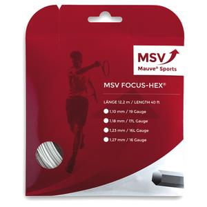 MAUVE SPORTS MSV FOCUS HEX 123 WHITE TENNIS STRING