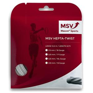 MAUVE SPORTS MSV HEPTA TWIST 125 WHITE TENNIS STRING
