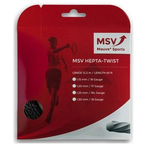 MAUVE SPORTS MSV HEPTA TWIST 125 BLACK TENNIS STRING