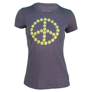 LOVEALL TENNIS PEACE ACID WASH TEE