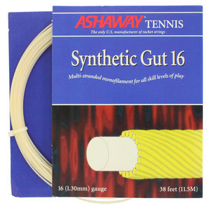 ASHAWAY SYNTHETIC GUT 16G WHITE STRINGS