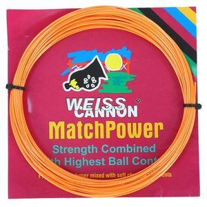 WEISS CANNON MATCH POWER 17G ORANGE TENNIS STRING