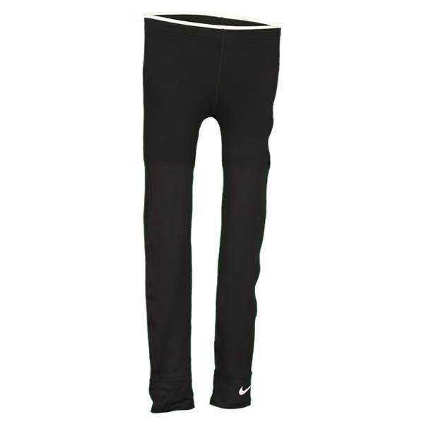 Girls Core Thermal Tights Nike Girls Core Thermal Tights The Nike Core Thermal Tights are fitted comfortable and great under pants shorts skirts or solo These tights features contrasting trim band and Nike Swoosh design at bottom left leg The Core Thermal Tights also feature DriFI