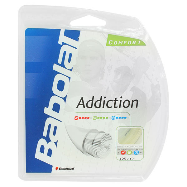 Addiction Tennis Strings 17g 1.25 Mm Natural