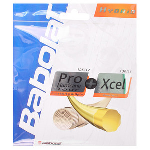 BABOLAT PRO HURRICANE TOUR 17 + XCEL 16G STRINGS