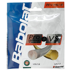 Babolat Pro Hurricane Tour 17g and VS 16g Strings