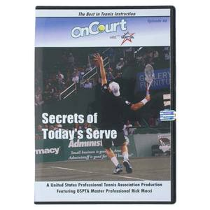 USPTA SECRETS OF TODAYS SERVE TENNIS DVD