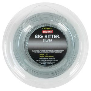 TOURNA BIG HITTER SILVER 17G REEL TENNIS STRING