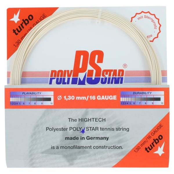 Poly Star Turbo 16g Tennis String Natural