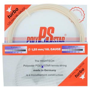 Poly Star Turbo 16L Tennis String Natural