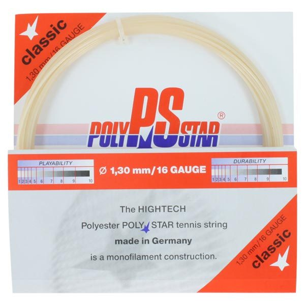 Poly Star Classic 16g Tennis String Natural
