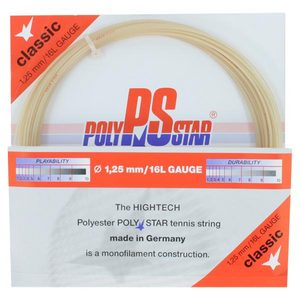 Poly Star Classic 16L Tennis String Natural