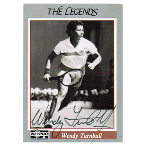 NETPRO WENDY TURNBULL SIGNED LEGENDS