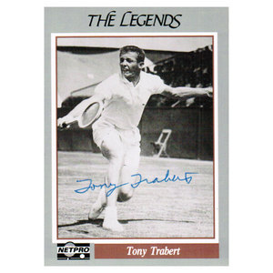 NETPRO TONY TRABERT SIGNED LEGENDS CARD