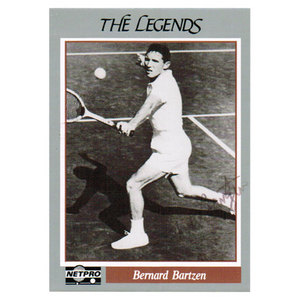 NETPRO TUT BARTZEN SIGNED LEGENDS CARD