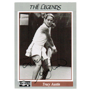 TENNIS EXPRESS TRACY AUSTIN SIGNED LEGENDS CARD