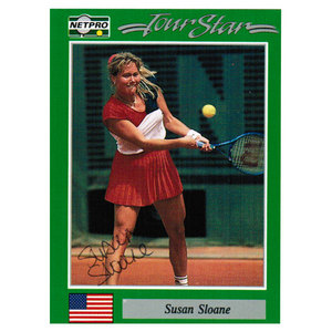 NETPRO SUSAN SLOANE SIGNED WOMENS CARD