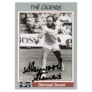 NETPRO SHERWOOD STEWART SIGNED LEGEND