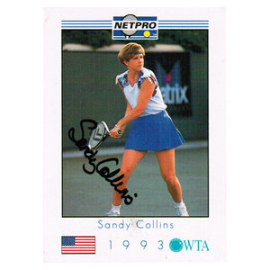 NETPRO SANDY COLLINS SIGNED WOMENS CARD