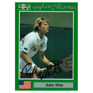 TENNIS EXPRESS ROBIN WHITE SIGNED WOMENS CARD