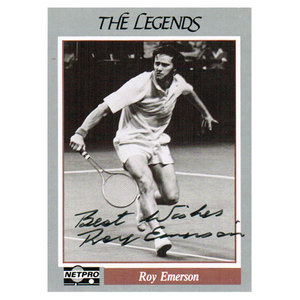 TENNIS EXPRESS ROY EMERSON SIGNED LEGENDS CARD