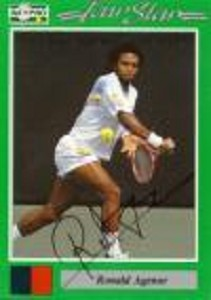 NETPRO Ronald Agenor Signed Mens Card