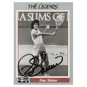 TENNIS EXPRESS PAM SHRIVER SIGNED LEGENDS CARD