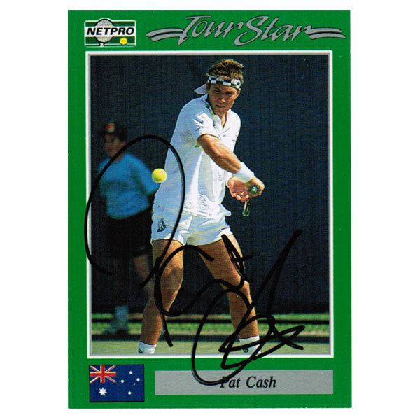Pat Cash Hand Signed Men's Card