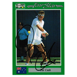 NETPRO PAT CASH HAND SIGNED MENS CARD